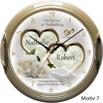 Goldene Hochzeit Geschenk Uhr Individuell Mit Namen Der Eheleute