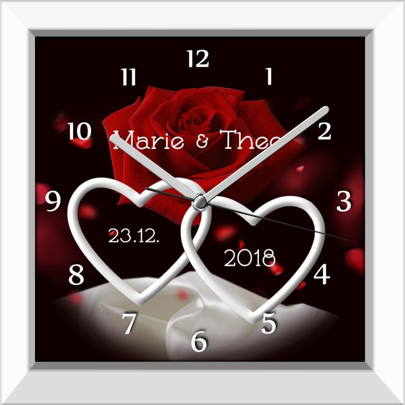 Fotouhr - Schöner Rahmen im Retro-Stil - als Bild oder Uhr M5
