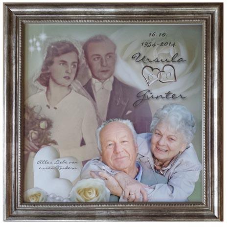 Goldene Hochzeit Geschenk Fotouhr