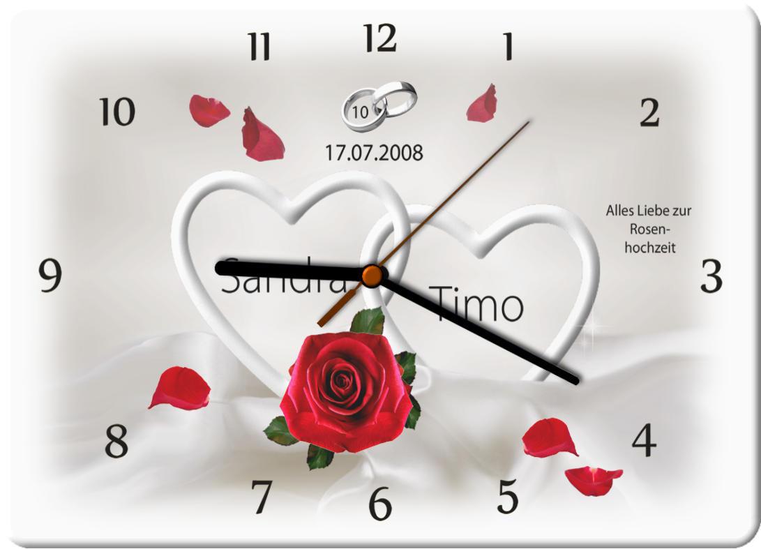 10 Hochzeitstag Moderner Druck Auf Hochwertigem Fotopaneel Uhr M4