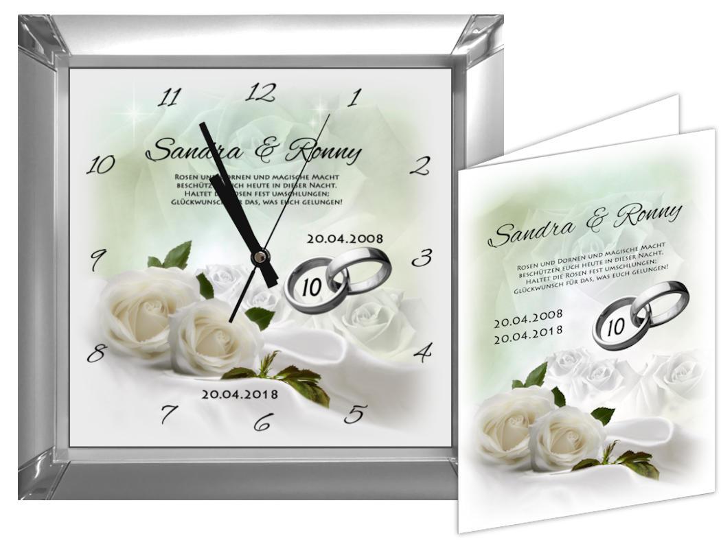 Rosenhochzeit Geschenk Zum 10 Hochzeitstag M2