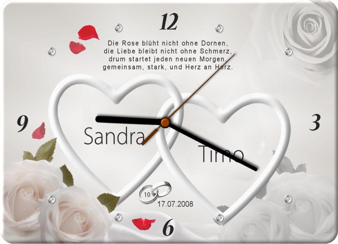 10 Hochzeitstag Moderner Druck Auf Hochwertigem Fotopaneel Uhr M9